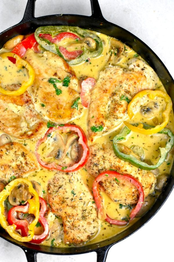 The 30 BEST Easy Weeknight Dinners - creamy chicken skillet.
