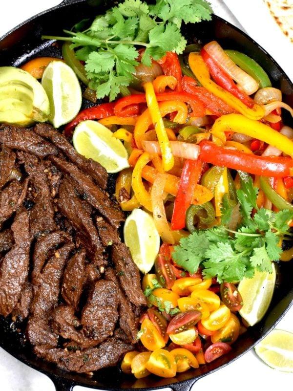 Flank Steak Fajitas.