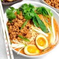 Korean ground pork soup.