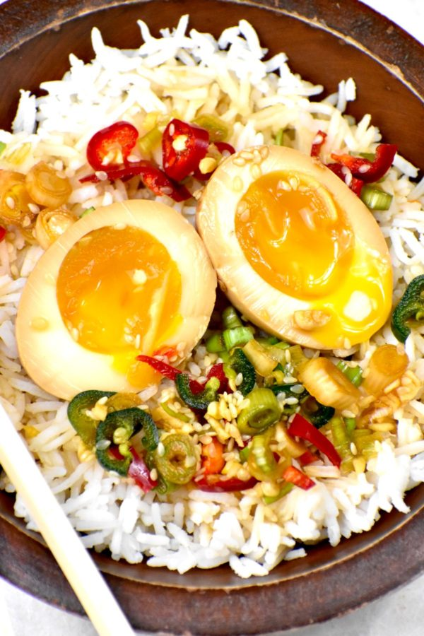 The 5 BEST Asian Recipes - mayak eggs.