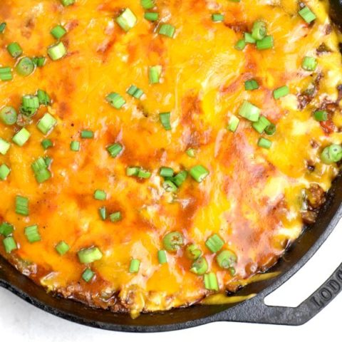 Featured image for Easy Cheesy Taco Skillet post.