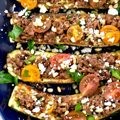 Featured image for Mediterranean Zucchini Boats post.