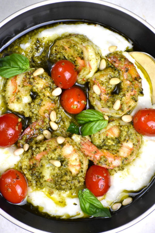The 40 BEST Easy Dinner Recipes - pesto shrimp and grits.