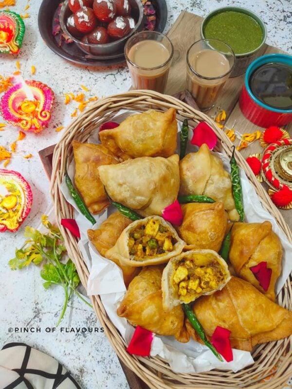 BEST Paneer Recipes - samosa.