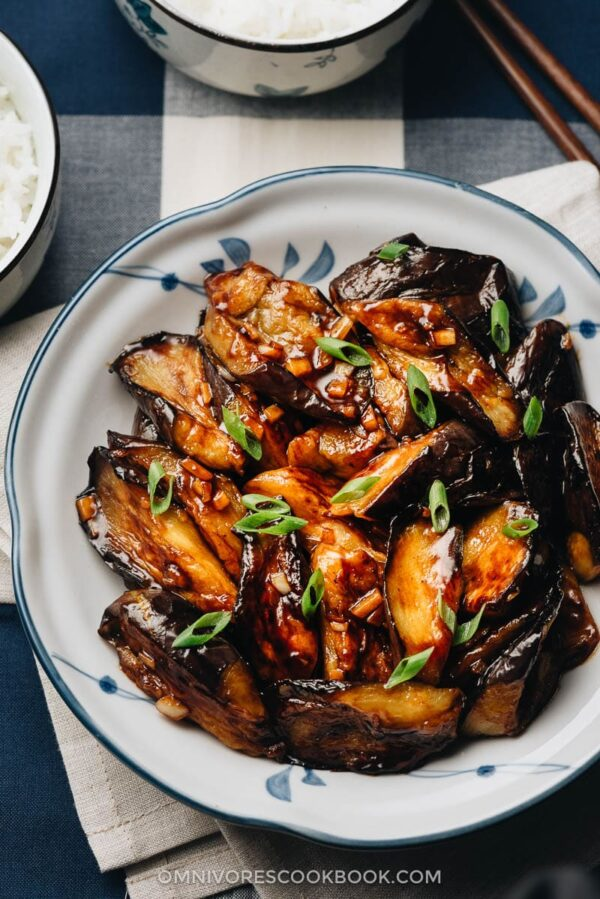35 BEST Eggplant Recipes - Chinese eggplant with garlic sauce.