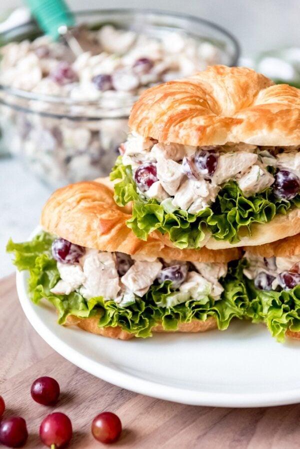 The 35 BEST Leftover Chicken Recipes - chicken salad.