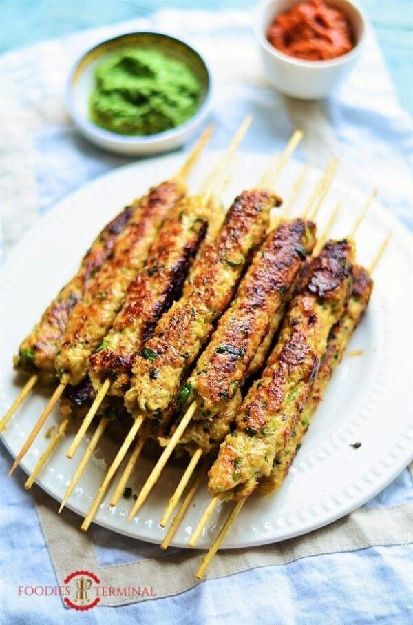 The 30+ BEST Ground Chicken Recipes - Seekh kebab.