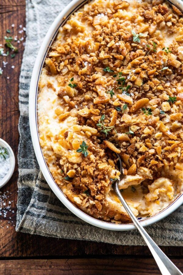 45 BEST Casserole Recipes - cheesy potato casserole.