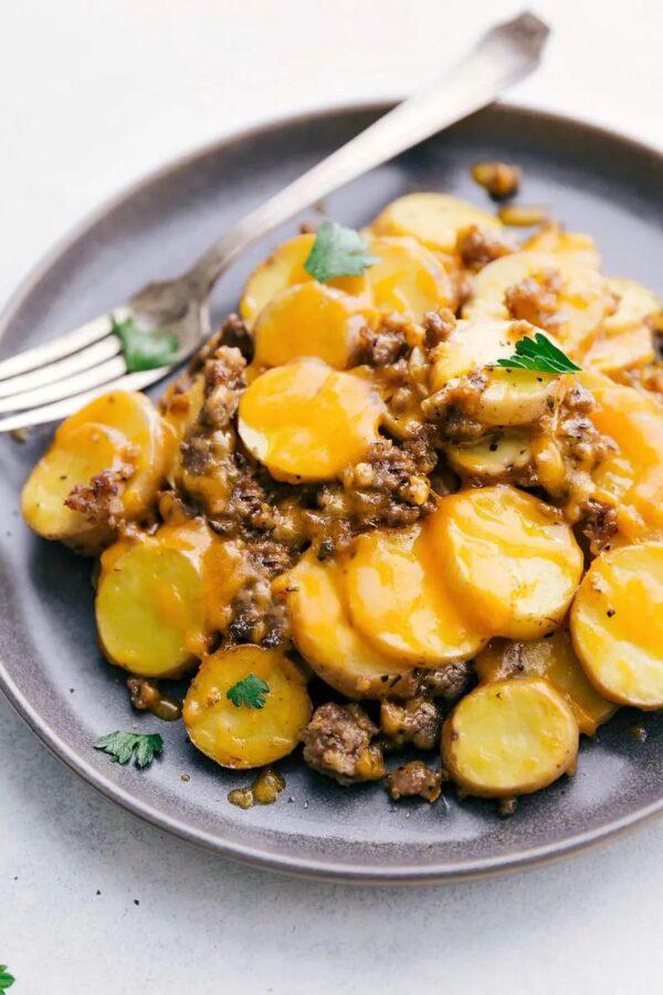 The 45 BEST Potato Recipes - crockpot cheesy potatoes.