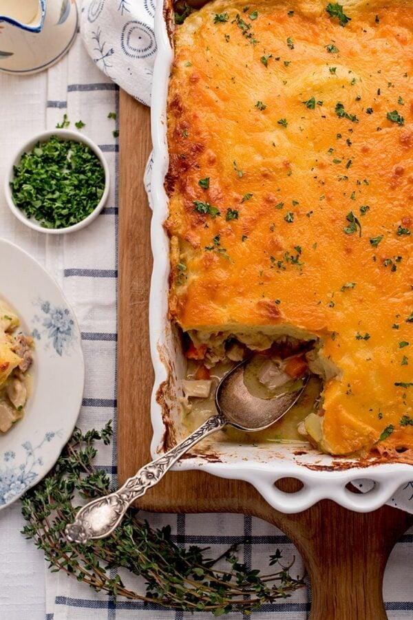 The 35 BEST Leftover Chicken Recipes - cottage pie.