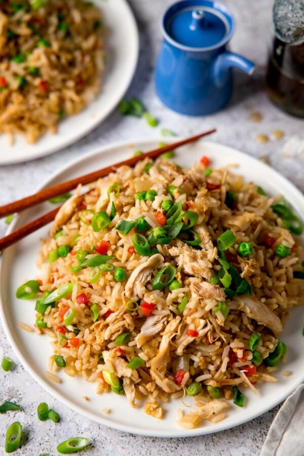 The 35 BEST Leftover Chicken Recipes - fried rice.
