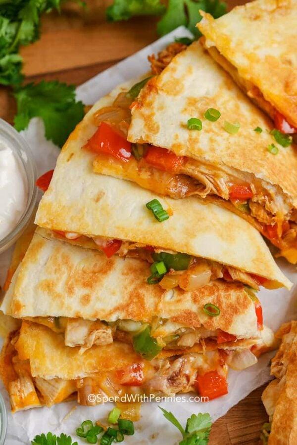 The 35 BEST Leftover Chicken Recipes - quesadillas.