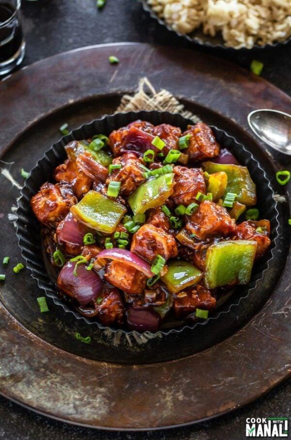 BEST Paneer Recipes - chilli paneer.