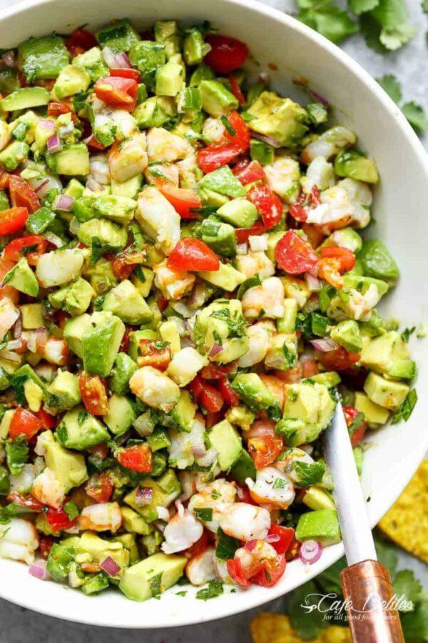 40 BEST Potluck Recipe Ideas - shrimp guacamole.