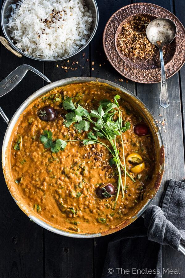 35 BEST Lentil Recipes - coconut lentil curry.