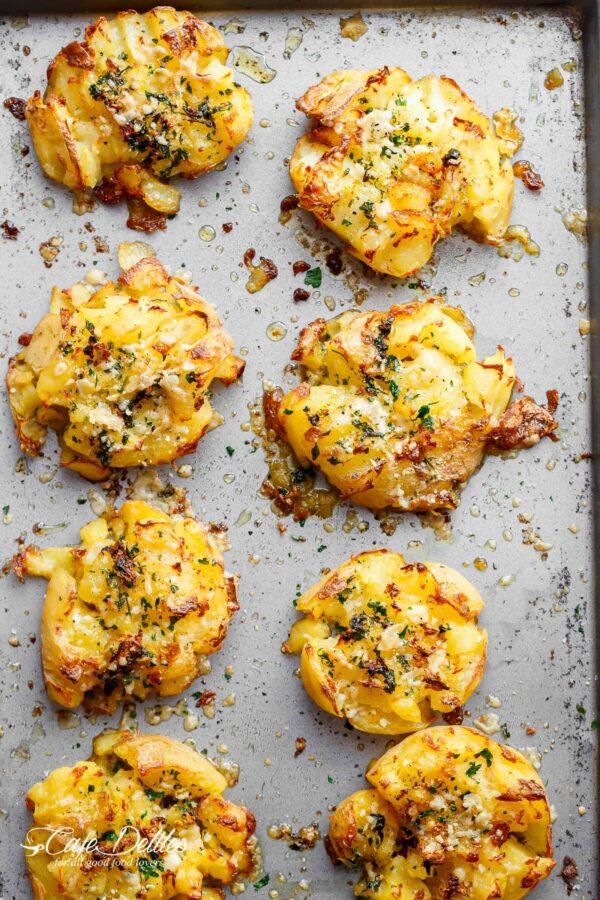 The 45 BEST Potato Recipes - smashed potatoes.