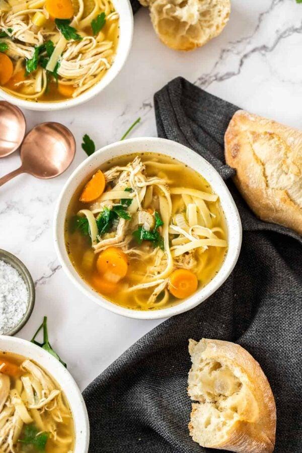 The 35 BEST Crockpot Soup Recipes - Chicken noodle soup.