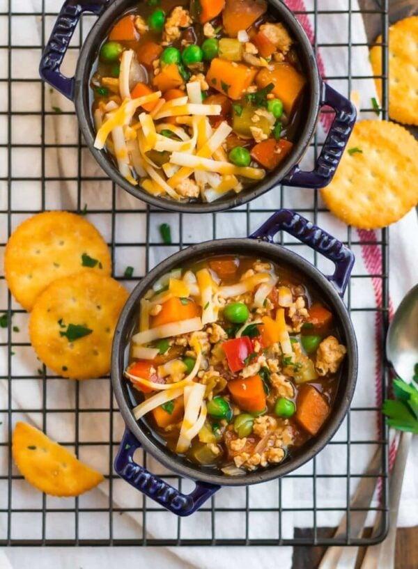 The 35 BEST Crockpot Soup Recipes - Hamburger soup.