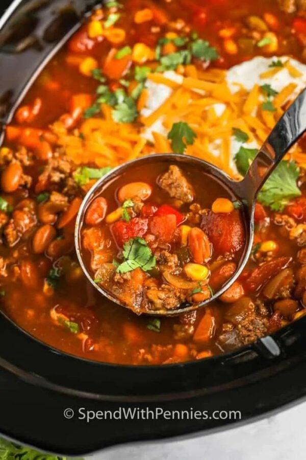 The 35 BEST Crockpot Soup Recipes - Taco soup.