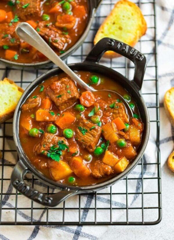 The 35 BEST Crockpot Soup Recipes - Vegetable beef soup.