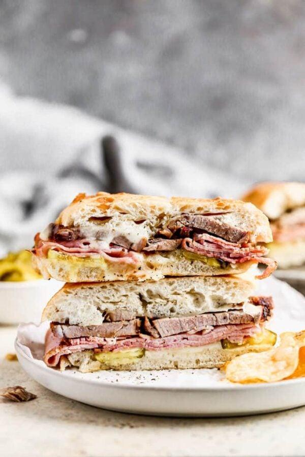 40 BEST Caribbean Recipes - Cuban sandwich.