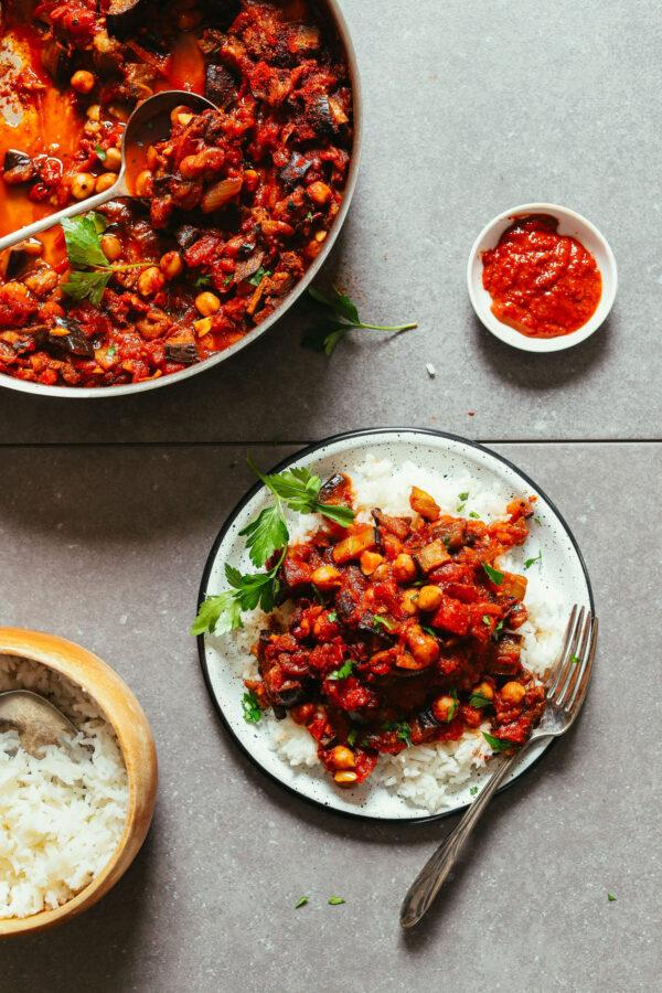 35 BEST Eggplant Recipes - Moroccan stew.