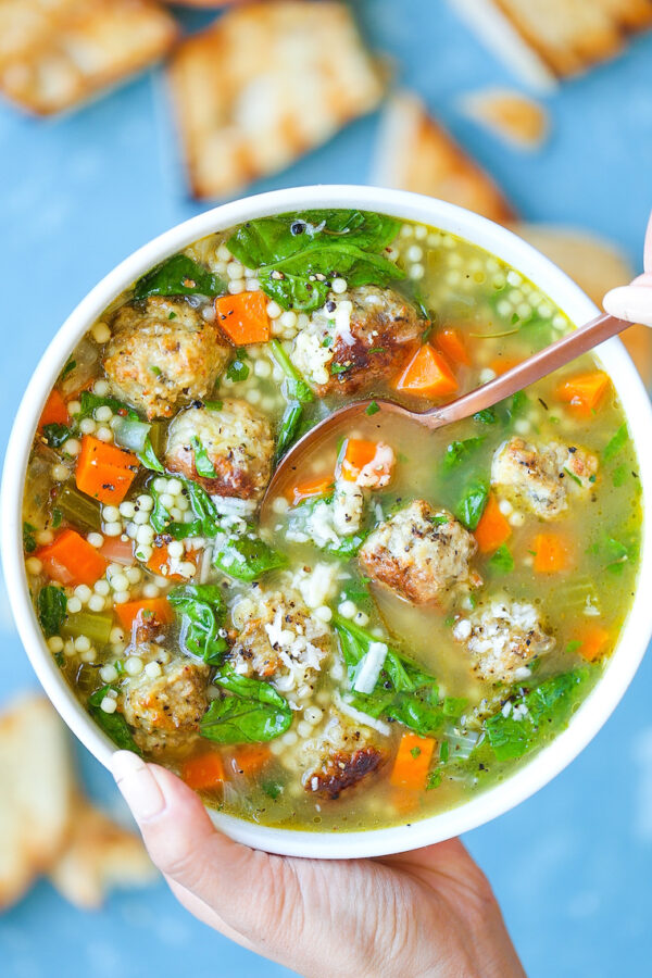 The 30+ BEST Ground Chicken Recipes - Italian wedding soup.
