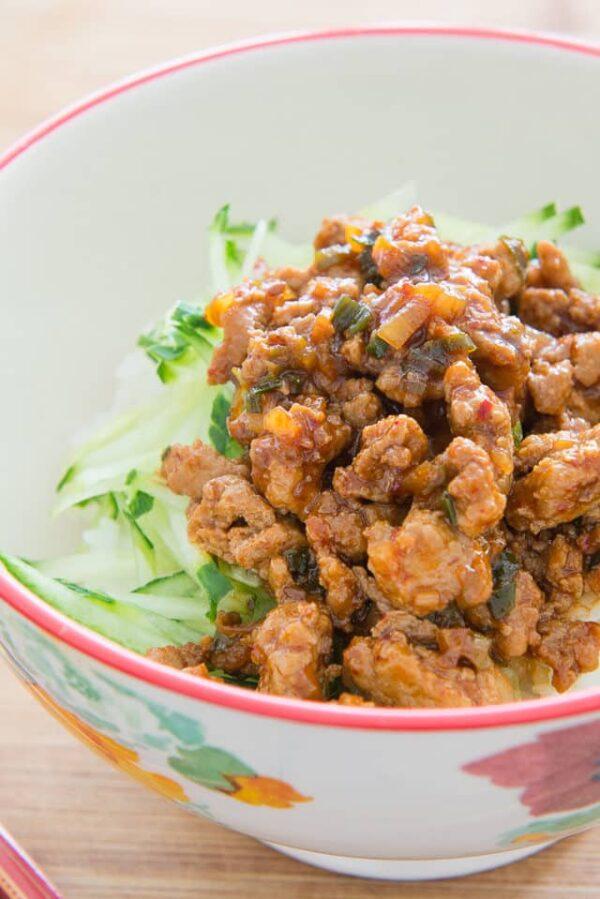 The 30+ BEST Ground Chicken Recipes - Korean bowls.