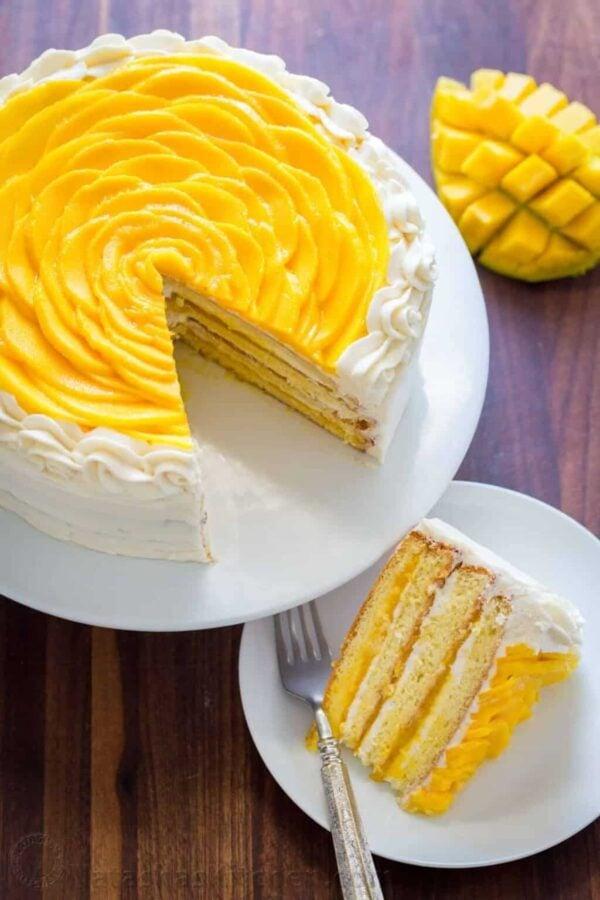 The BEST Mango Recipes - Mango cake.