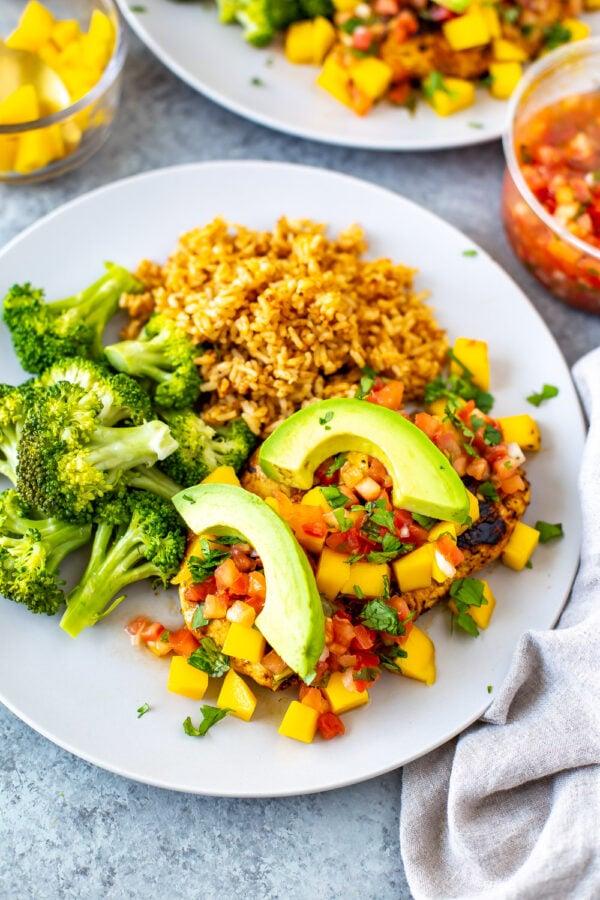 The BEST Mango Recipes - Mango chili chicken.