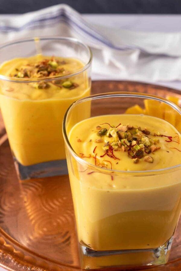 The BEST Mango Recipes - Mango lassi.