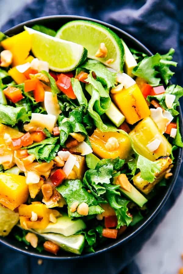 The BEST Mango Recipes - Mango and pineapple salad.