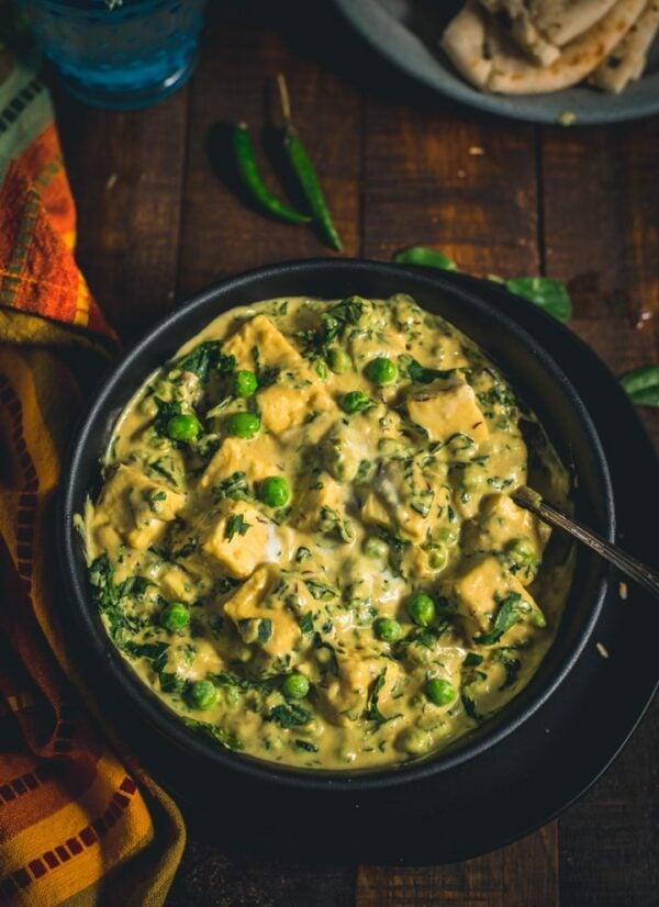 BEST Paneer Recipes - methi malai.