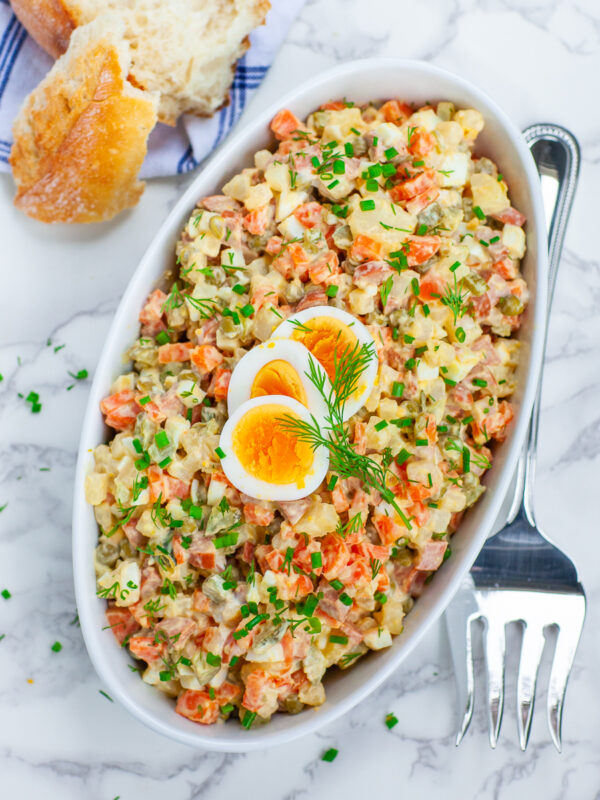 The 45 BEST Potato Recipes - Olivier salad.