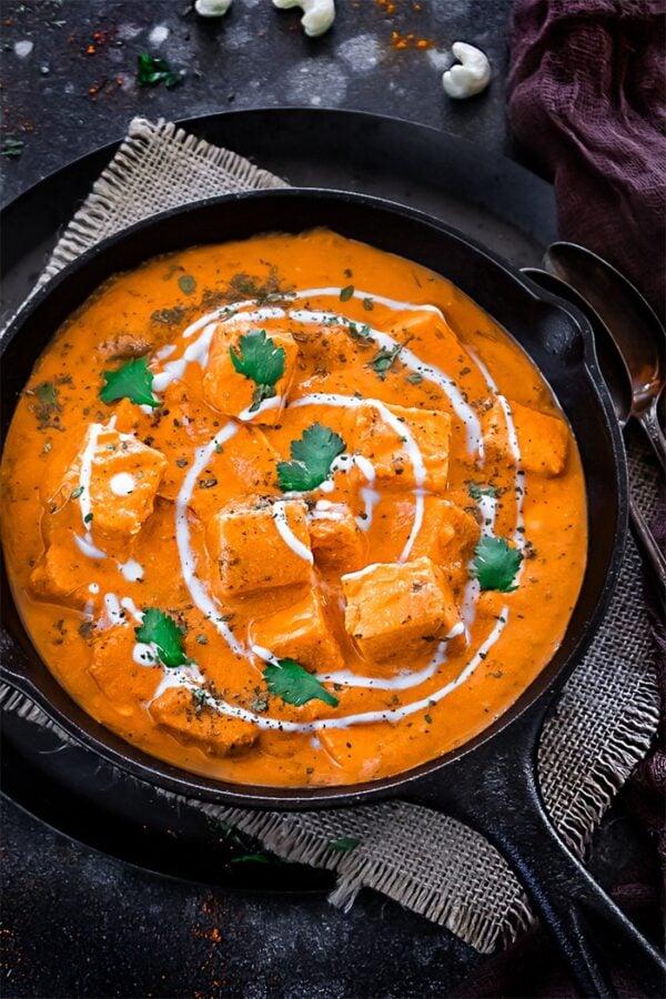 BEST Paneer Recipes - paneer butter masala.