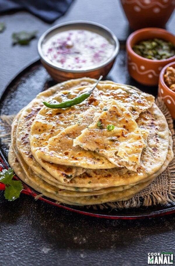 BEST Paneer Recipes - paratha.