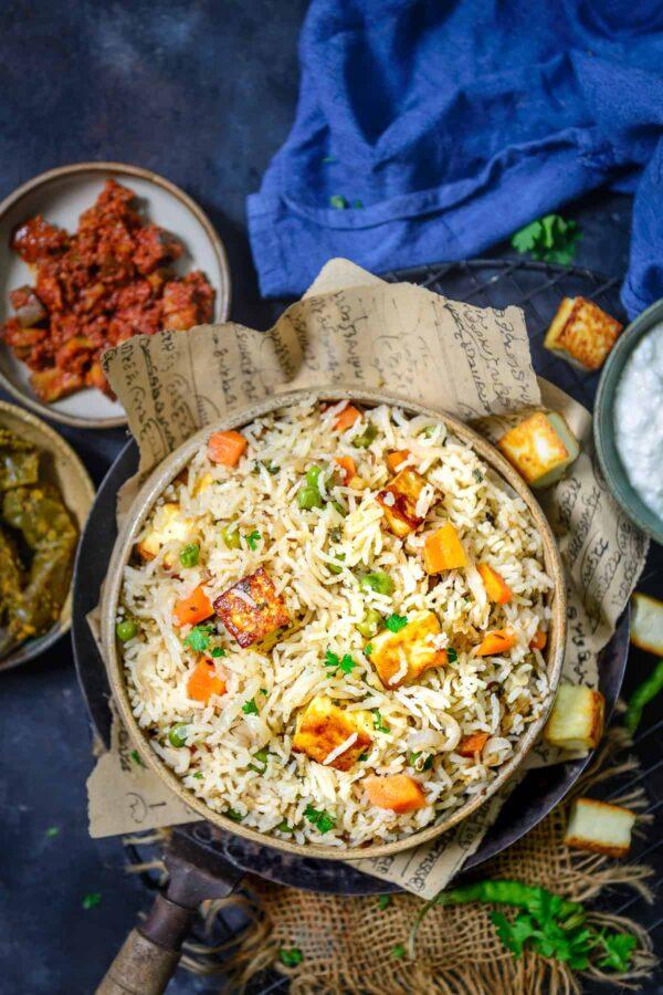 BEST Paneer Recipes - pulao.