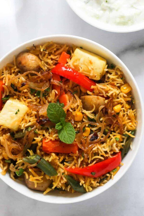 BEST Paneer Recipes - biryani.