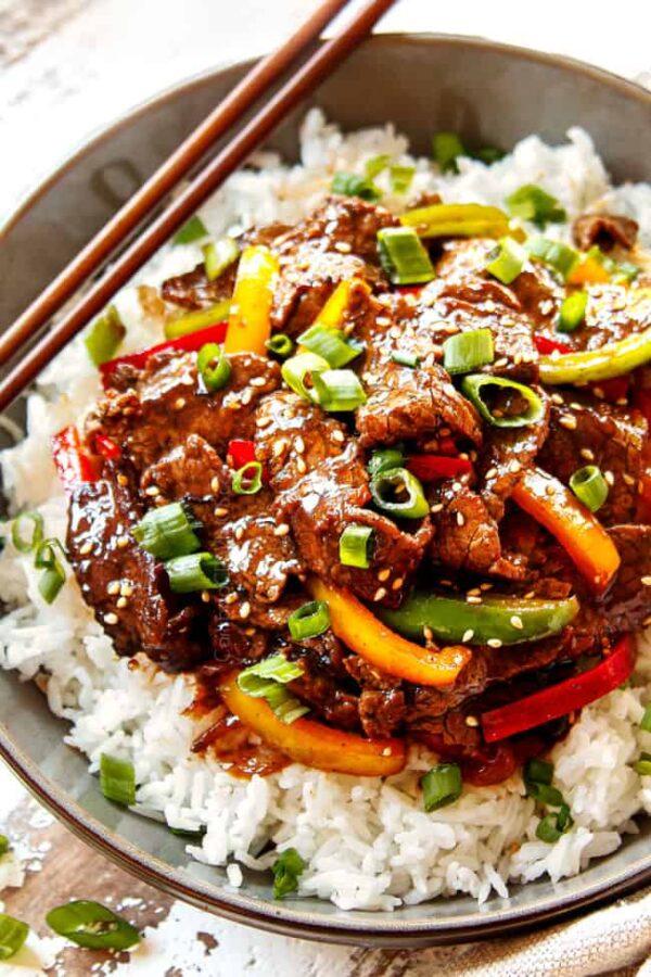The 5 BEST Asian Recipes - pepper steak.