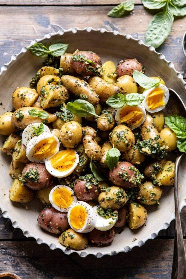The 45 BEST Potato Recipes - pesto potato salad.