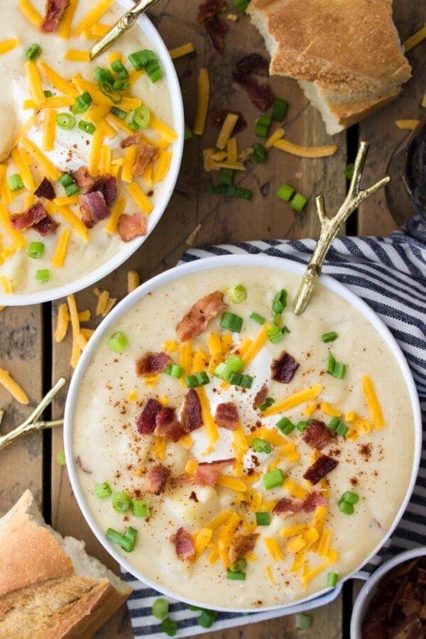 The 45 BEST Potato Recipes - creamy potato soup.