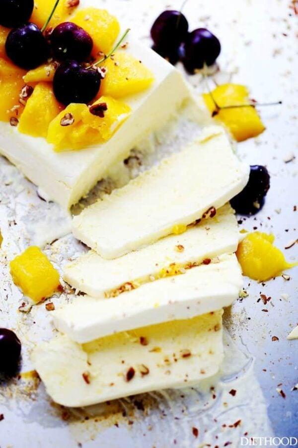 The BEST Mango Recipes - Mango semifreddo.
