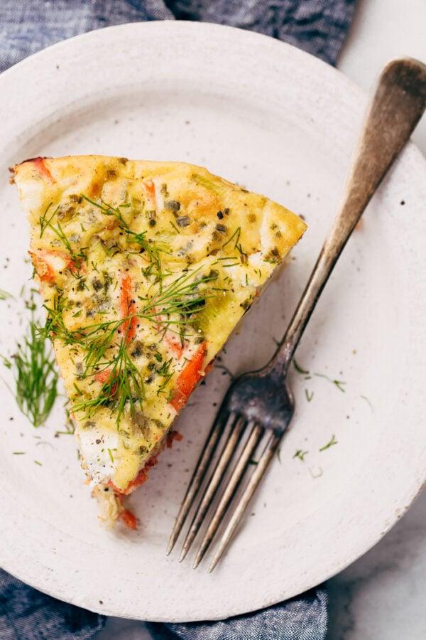45 BEST Casserole Recipes - smoked salmon breakfast casserole.