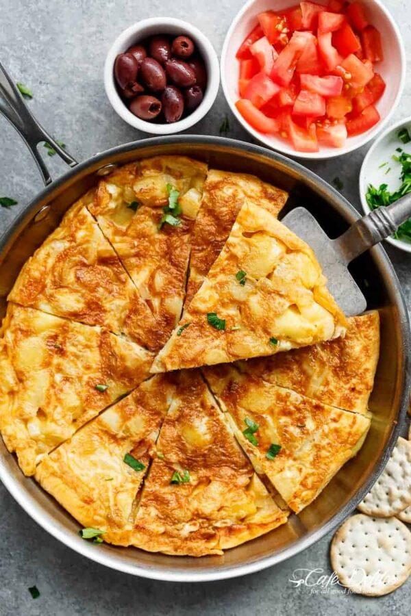 The 45 BEST Potato Recipes - Spanish omelette.