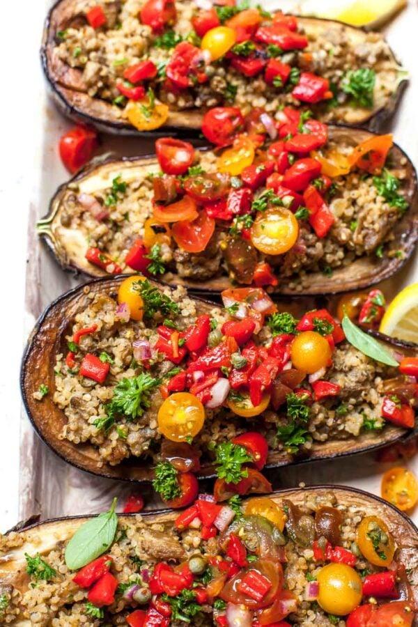 35 BEST Eggplant Recipes - Mediterranean eggplant boats.