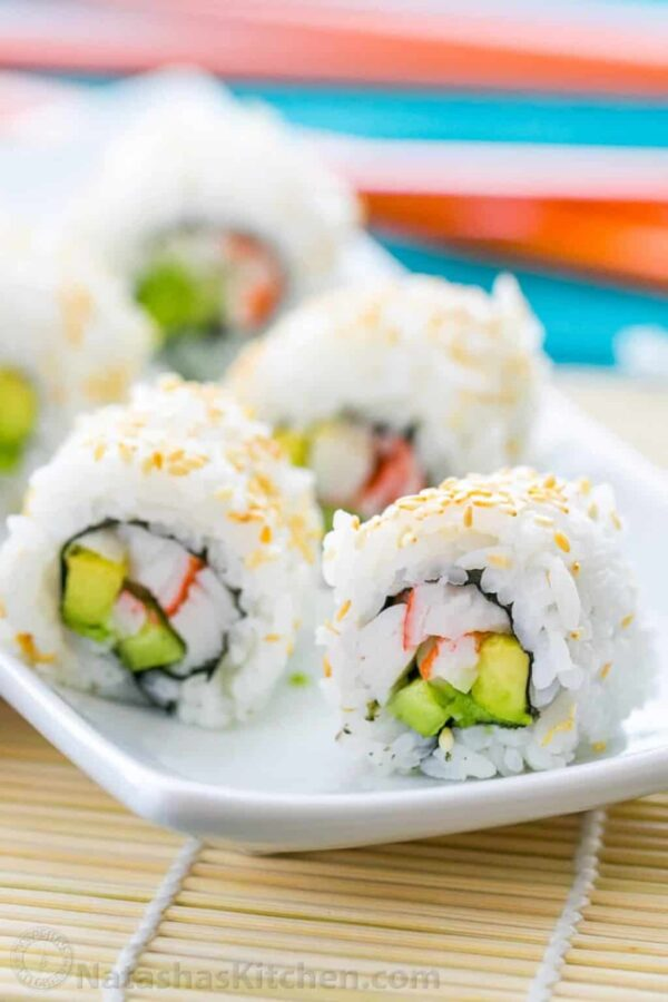 The 5 BEST Asian Recipes - sushi rolls.