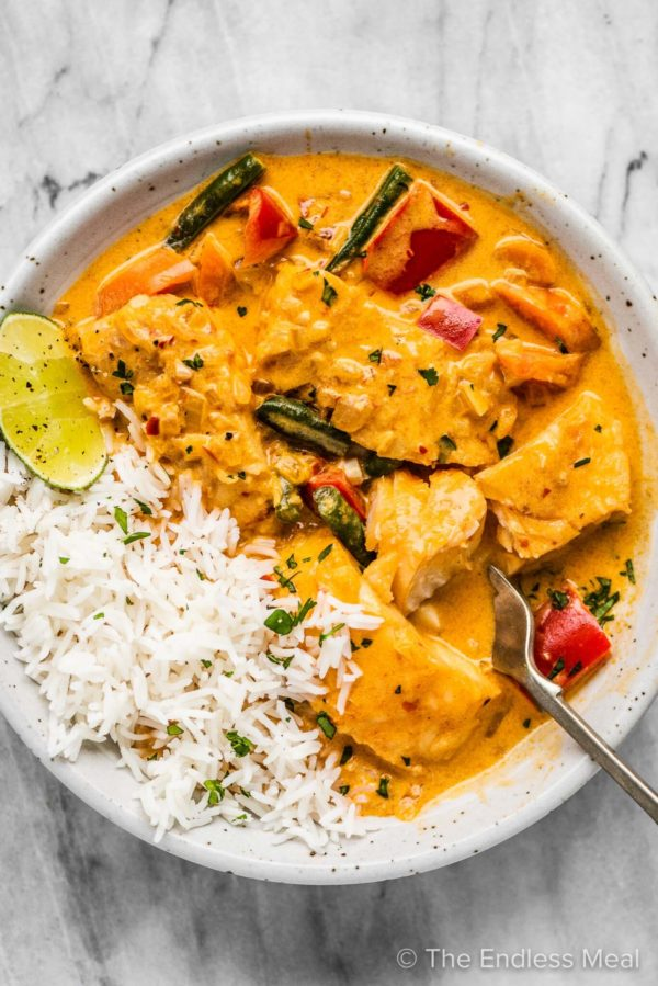 The 40 BEST Curry Recipes - Thai Fish Curry.