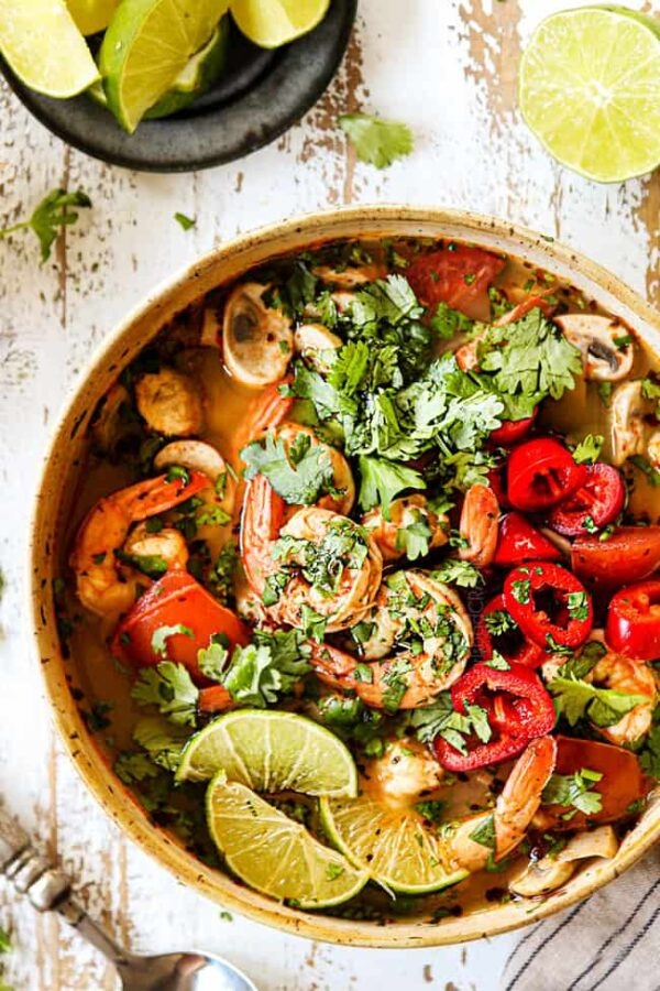 The 5 BEST Asian Recipes - Tom yum soup.
