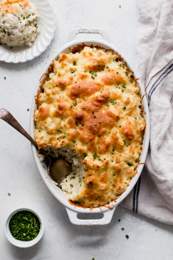 45 BEST Casserole Recipes - twice baked potato casserole.