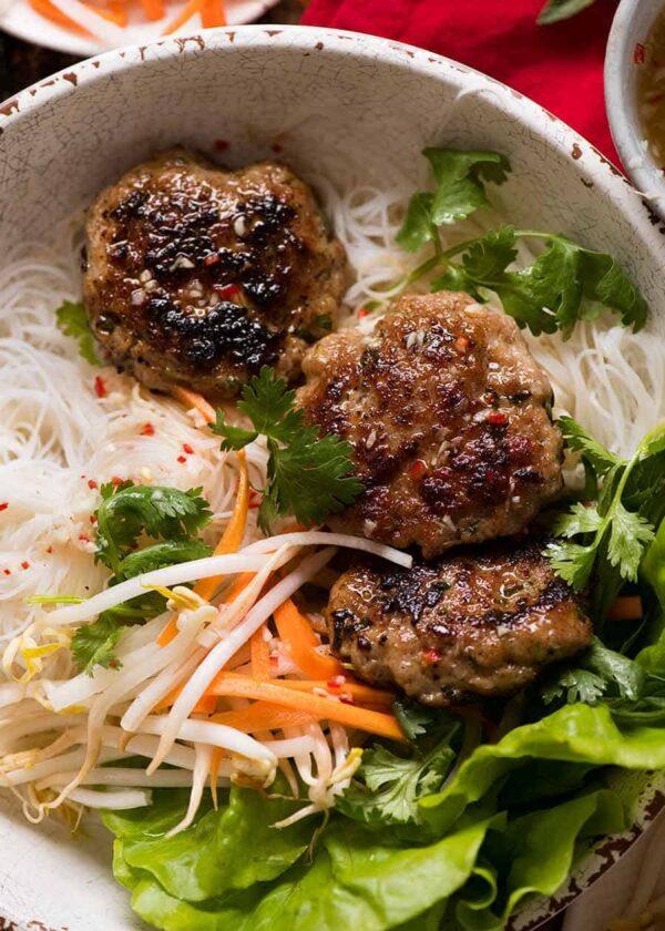 The 5 BEST Asian Recipes - bun cha.